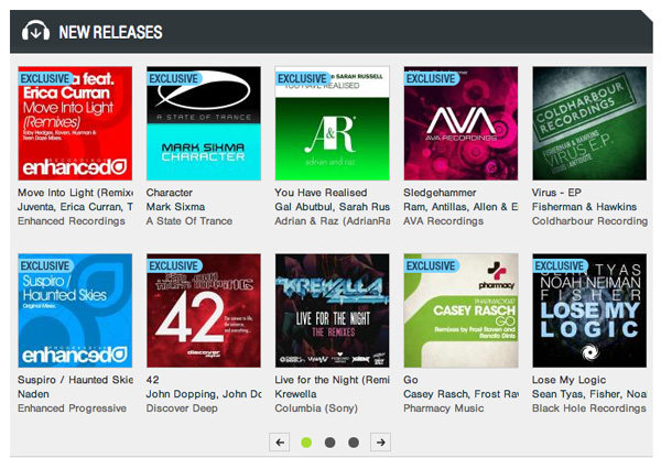 "Casey Rasch's ""Go"" featured on Beatport front page"