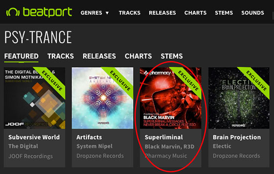 Black Marvin – Superliminal Messages / Never Break A Circle is Top 10 on Beatport