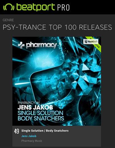 Jens Jakob – Single Solution / Body Snatchers debuts in Beatport Top 50
