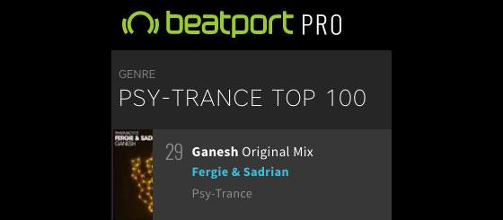 Fergie & Sadrian – Ganesh cracks Beatport Top 30
