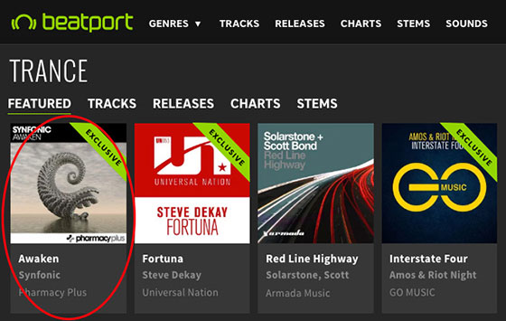 Synfonic – Awaken is Featured Release on Beatport