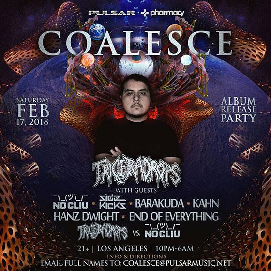 Triceradrops debut artist album Coalesce album launch in Los Angeles
