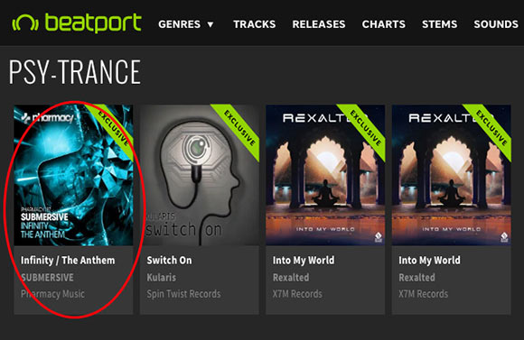 Submersive – Infinity / The Anthem is a Featured Release on Beatport