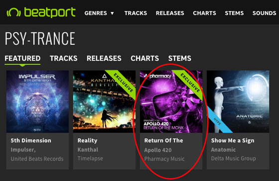 Apollo 420 – Return Of The Monk is a Featured Release on Beatport