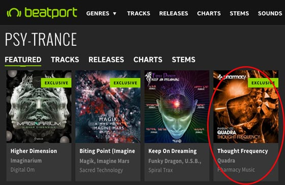 Quadra – Thought Frequency is a Featured Release on Beatport